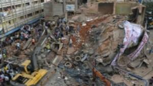 """انهيار فندق في مدينة """"اسكندرآباد"""""""