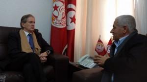 حسين العباسي وسفير فرنسا