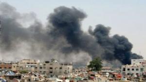 انفجار مخزن الذخيرة في حمص