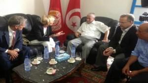 """""""حسين العباسي"""" يلتقي وزيرة الخارجية الإيطالية"""
