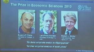 3 علماء أمريكيين يتقاسمون جائزة نوبل للاقتصاد 2013