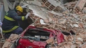 انهيار مبنى قيد الإنشاء في البرازيل