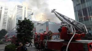 اندلاع حريق قرب محطة بطوكيو