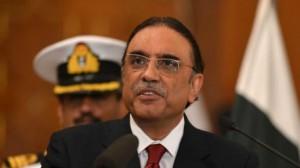 الرئيس الباكستاني السابق آصف علي زرداري
