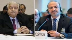 المعارضة والحكومة السورية