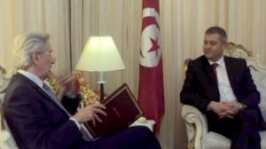 منير التليلي وزير الشّؤون الدّينيـّة  و فرنسوا قويات François Gouyette سفير فرنسا بتونس