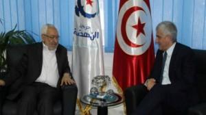 راشد الغنوشي و وزير الدفاع الفرنسي السابق