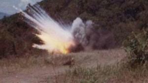 انفجار لغم