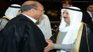 رسالة خطية من المرزوقي الى أمير دولة الكويت
