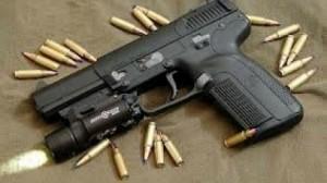 مسدس وخراطيش