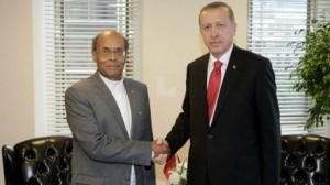 المرزوقي يلتقي رجب طيب اردوغان