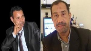 شكري الميعادي والروائي ورئيس فرع اتحاد الكتاب التونسيين بتوزر محمد الغزالي