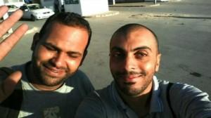 """الصحفي التونسي """"سفيان الشورابي"""" والمصور """"نذير الكتاري"""""""