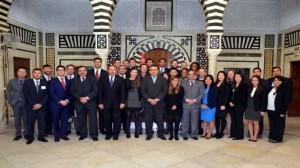 رئيس الحكومة مهدي جمعة يستقبل بقصر الحكومة بالقصبة طلبة من جامعة كولومبيا الامريكية اختصاص ادارة الاعمال والقيادة