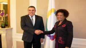 رئيس الحكومة يلتقي الأمينة العامة للمنظمة الدولية للفرنكوفونية ميشال جان