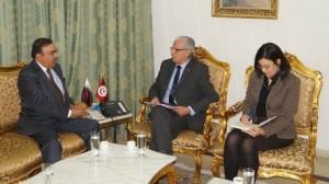 لقاء وزير العدل بسفير قطر بتونس