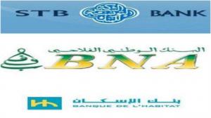 الشركة التونسية للبنك والبنك الوطني الفلاحي وبنك الاسكان