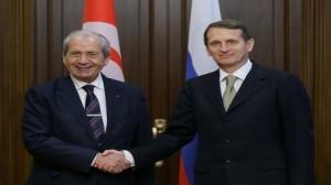 رئيس مجلس نواب الشعب يلتقي مع رئيس مجلس الدوما الروسي