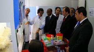وزير الصحة التونسية سعيد العايدي ووزي الصحة الموريتاني الدكتور كان بوبكر