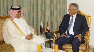 وزير العدل يلتقي سفير قطر بتونس