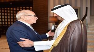"""""""السبسي"""" يلتقي رئيسا مجلس الوزراء  القطري"""