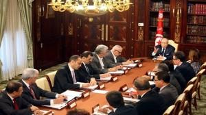 إجتماع في إطار متابعة المشاورات حول حكومة الوحدة الوطنية