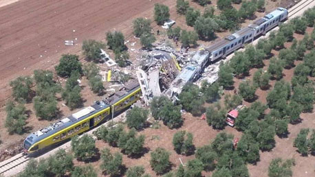 حادث قطار بايطاليا