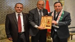 وزير الشؤون الخارجية يستقبل كلا من سفير النوايا الحسنة الفلسطيني ورئيس جمعية الصداقة التونسية الفلسطينية