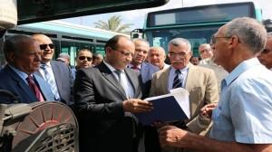 وزارة النقل تتسلم 93 حافلة مستعملة من فرنسا