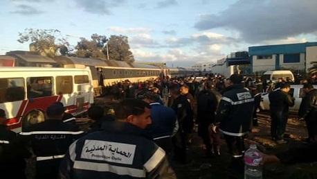العاصمة:وفاة 4 أشخاص في اصطدام قطار بحافلة في جبل الجلود