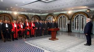 لأعضاء المجلس الأعلى للقضاء  يُؤدون اليمين الدستورية