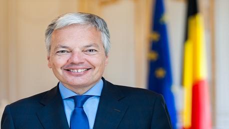 وزير الشؤون الخارجية خميس الجهيناوي، يؤدي وزير الشؤون الخارجية بالمملكة البلجيكية  ديدييه ريندرس DIDIER REYNDERS