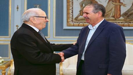"""السبسي و """"نور الدين الطبوبي"""" الأمين العام للاتحاد العام التونسي للشغل"""