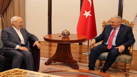 """فحوى لقاء """"راشد الغنوشي"""" برئيس الحكومة التركية"""