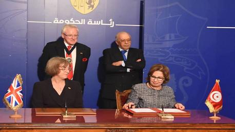التّوقيع على مذكّرة تفاهم حول القطاع المالي بين تونس وبريطانيا وايرلندا