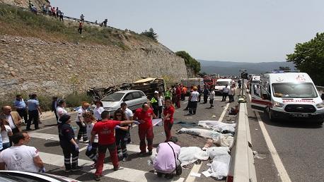 تركيا: 23 قتيلاً في انقلاب حافلة سياحية