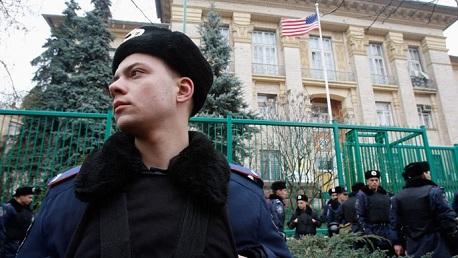 انفجار يستهدف السفارة الاميركية بأكرانيا