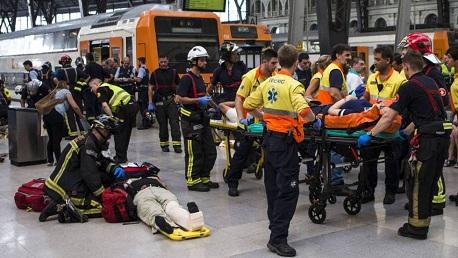 اسبانيا حادث قطار