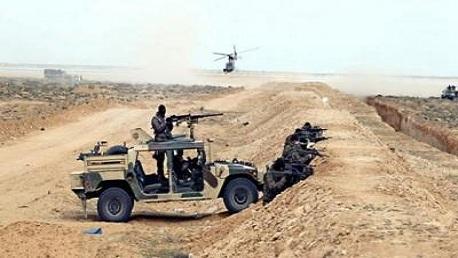 المنطقة العازلة: تبادل إطلاق نار بين الجيش ومسلحين على متن سيارات مجهزة بأسلحة رشاشة