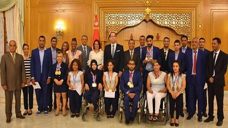 رئيس الحكومة يوسف الشاهد يكرم ابطال تونس في مونديال لندن لألعاب القوى لذوي الإحتياجات الخصوصية