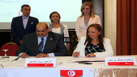 إمضاء مذكرة تفاهم بين وزارة الصحة و الشبكة الشرق أوسطية للصحة المجتمعية