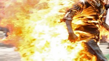 برج الطويل – أريانة/ شاب يتعمّد إضرام النار بجسده إثر خلاف مع والده