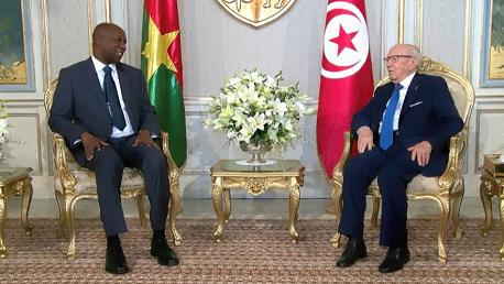 """السبسي و  بول كابا تيابا """"Paul Kaba THIEBA"""" الوزير الأوّل البوركيني"""