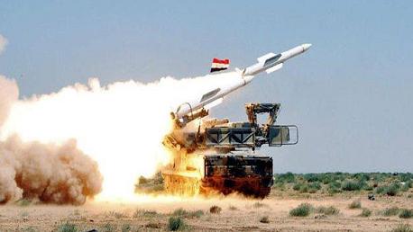 اطلاق صواريخ  إسرائيلية على الأراضي السورية