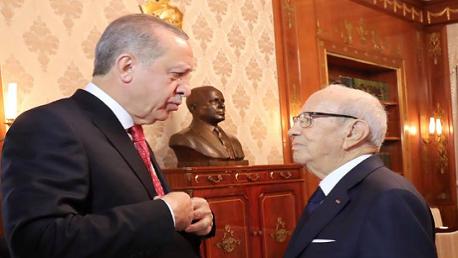 أردوغان يبحث مع السبسي
