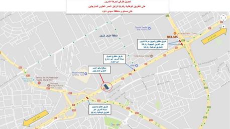 بلاغ إلى مستعملي الطريق الوطنية رقم 9 الرابطة بين تونس والمرسى