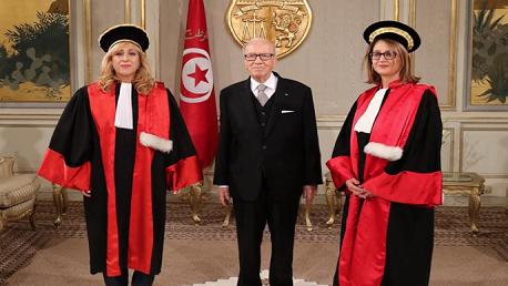 عضوا المجلس الأعلى للقضاء الجديدتين يُؤديان اليمين الدستورية