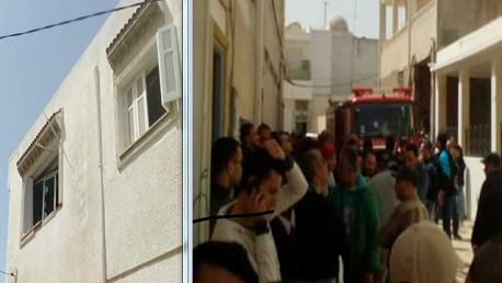 حدوث انفجار في احد المنازل في حي الشوارف بقليبية