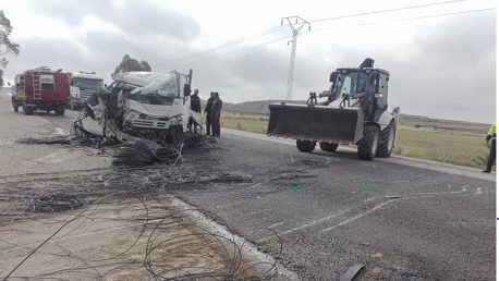 حادث مرور على مستوى الطريق الرابطة بين النفيضة ومنطقة القارصي.
