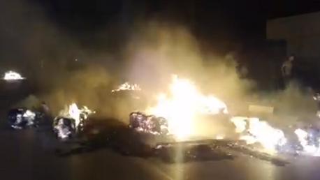 قبلي المدينة:حريق بشاحنة دون خسائر بشرية